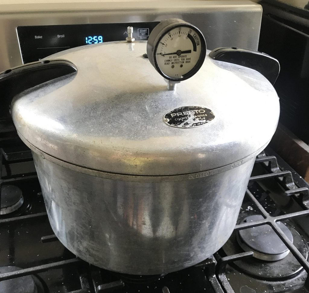 Pressure Canner on the stove