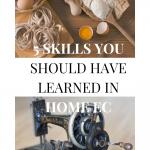 home ec skills