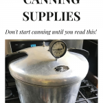 pressure canner on stove