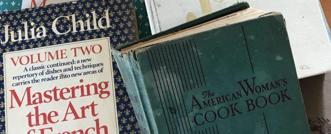five old cookbooks