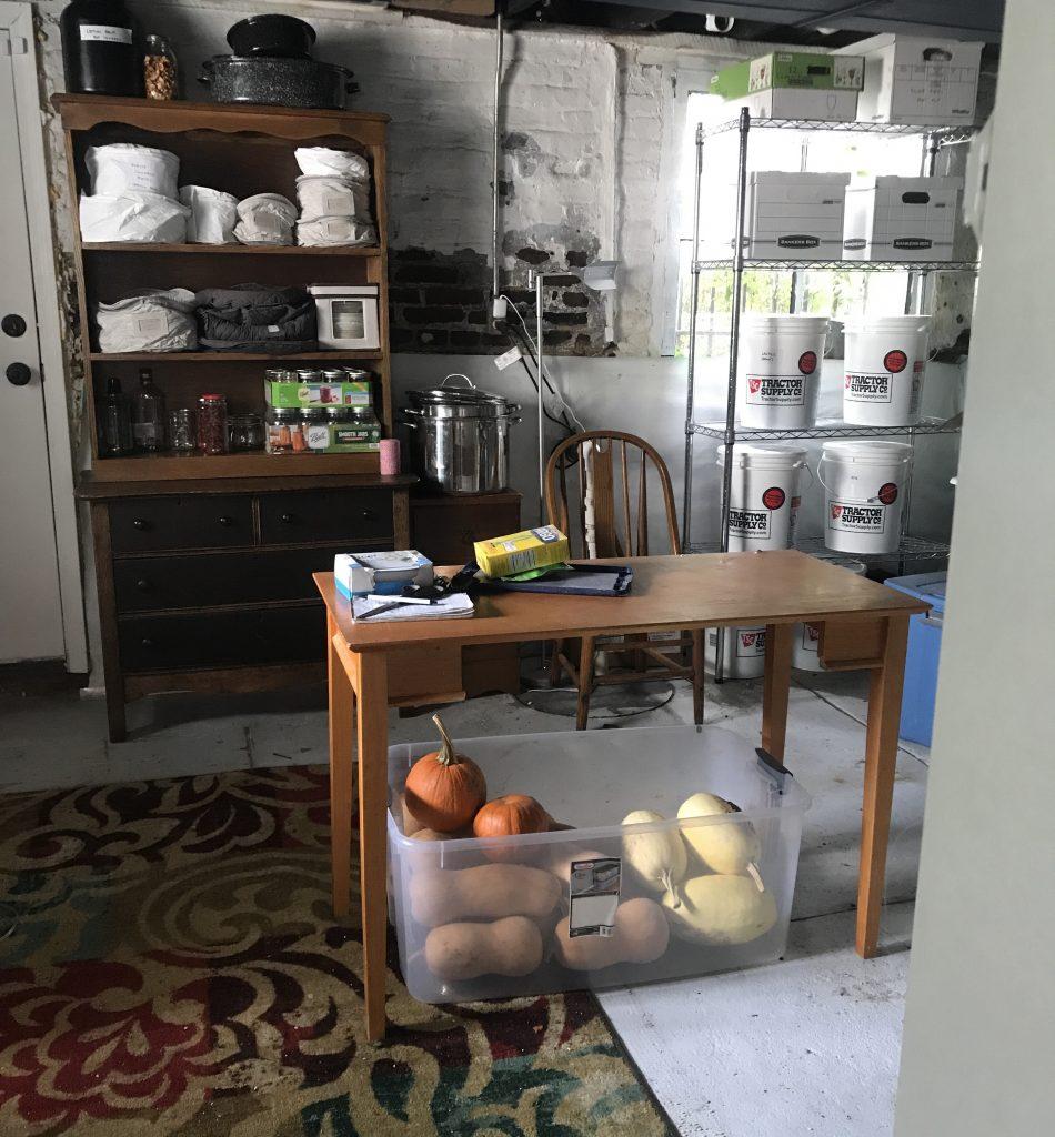 Long term food storage area