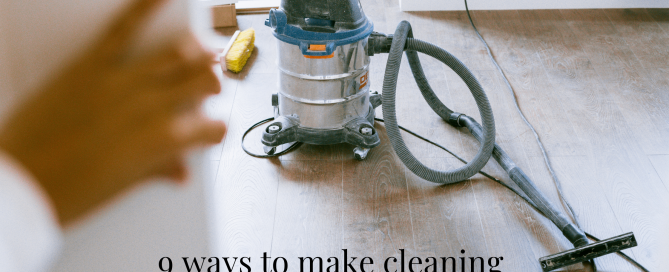 A person looks with dread at a vacuum, post about making cleaning less tedious
