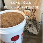 long term food storage supplies