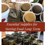 supplies for food storage