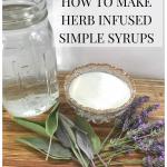 fresh herb simple syrup